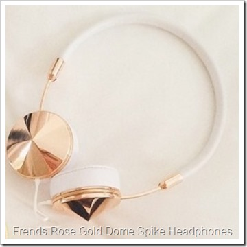 Frends Rose Gold Dome Spike Headphones