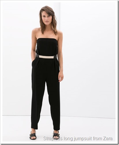 Strapless long jumpsuit from Zara
